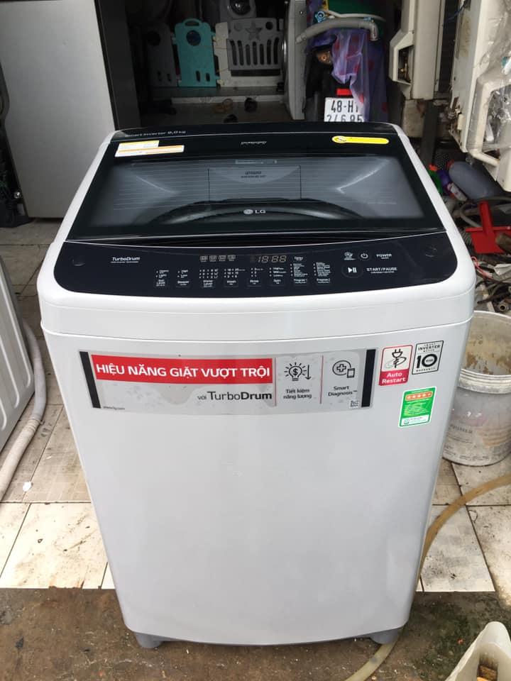 Máy giặt LG (9kg) inverter tiết kiệm điện mới 98%