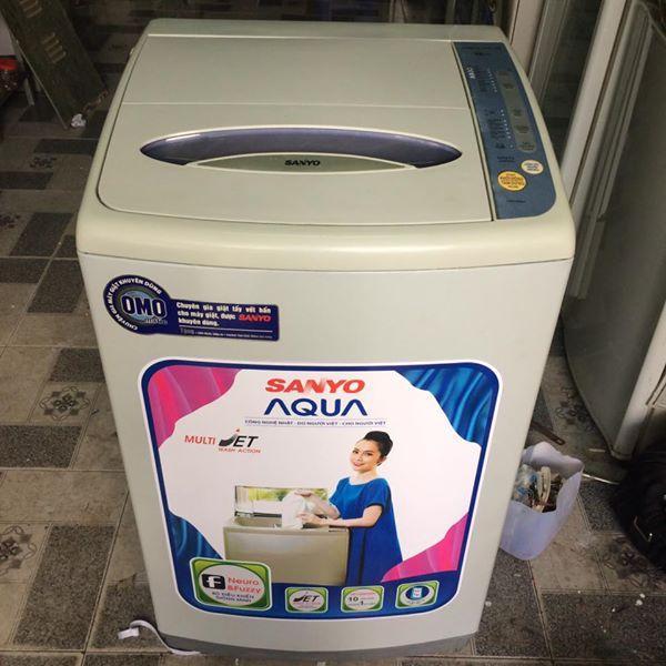 Máy giặt Sanyo 6,5 kg lòng inox không rỉ mới 90%