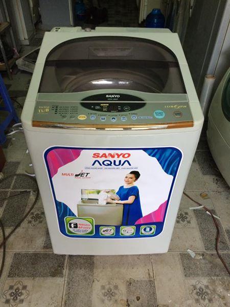 Máy giặt Sanyo 6,5 kg lòng nghiêng mới 90%