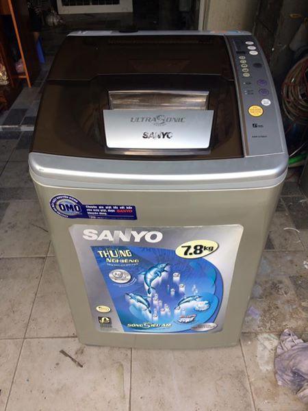 Máy giặt Sanyo 7,8 kg lòng inox không rỉ