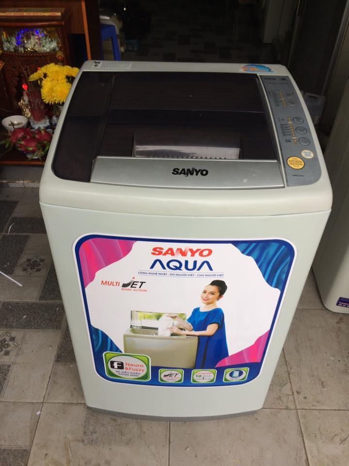 Máy giặt Sanyo 7kg lòng inox không rỉ mới 90%