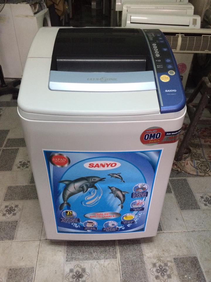 Máy giặt Sanyo ASW-U850VT lồng nghiêng 8.5kg mới 96%