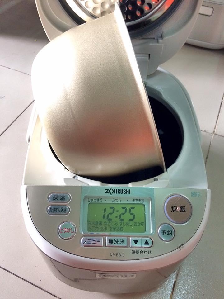Nồi cơm điện cao tần IH ZOJIRUSHI NP-FB10 áp suất AI mới 95%