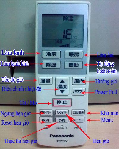 Sử dụng remote máy lạnh nội địa