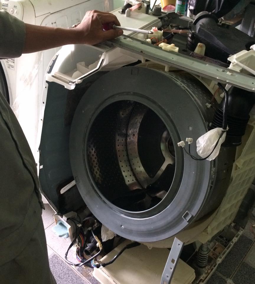 Sửa máy giặt nội địa nhật khu vực miền tây giáp TPHCM