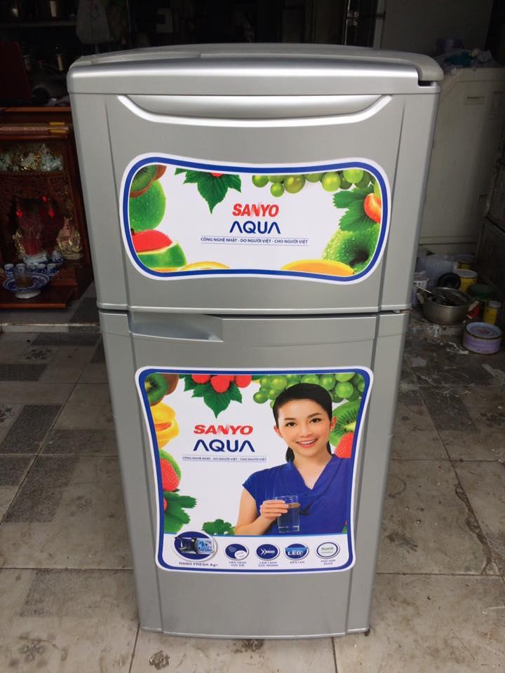 Tủ lạnh Sanyo SR-11HD(S) 110L đóng tuyết