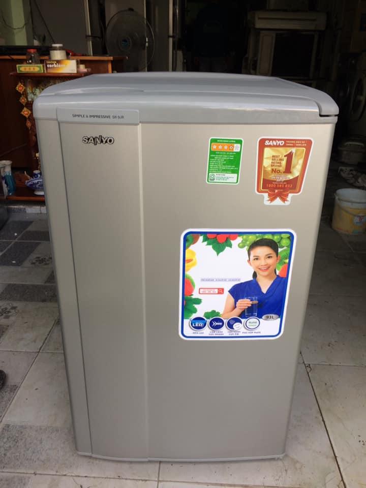 Tủ lạnh Sanyo SR-9JR (SS) 93 lít mới 95%