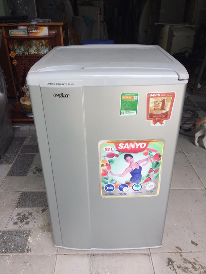 Tủ lạnh Sanyo SR-9JR(SH) 93 lít mới 96%